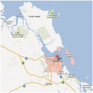Map of Gladstone Queensland
